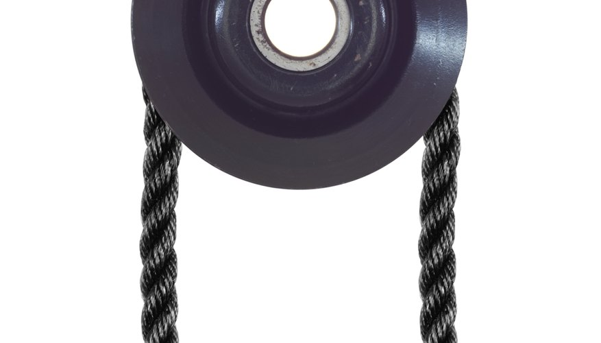 Pulleys are simple machines that help you life large weights.