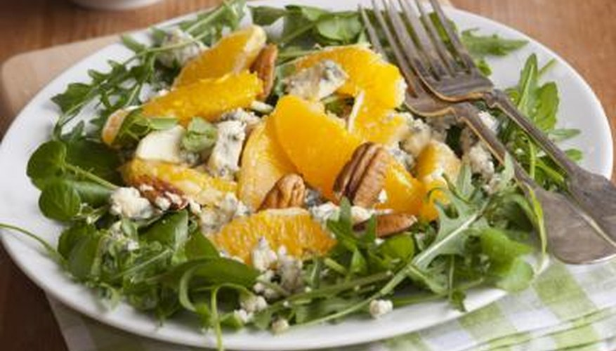 Ensalada de espinaca con mandarina.