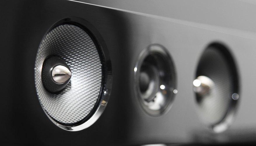 A close-up of a soundbar speaker.