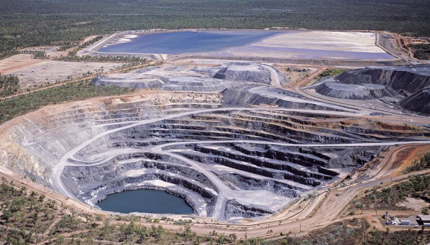 Open pit mining is mechanically easier to do.