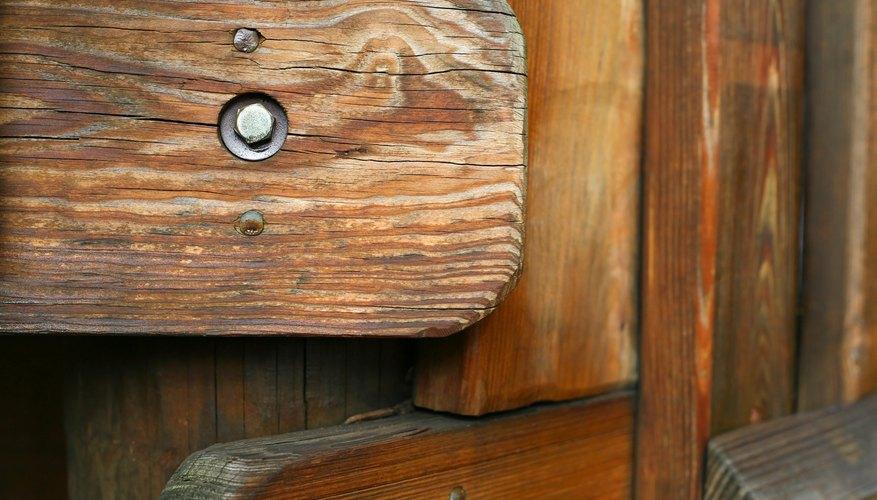 Bolt on wooden playground