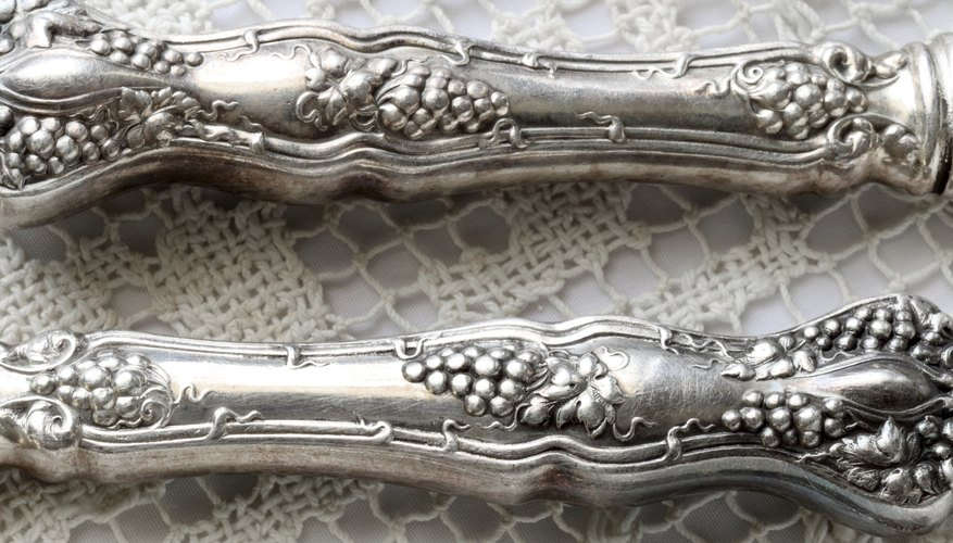Antique Silverware on Lace