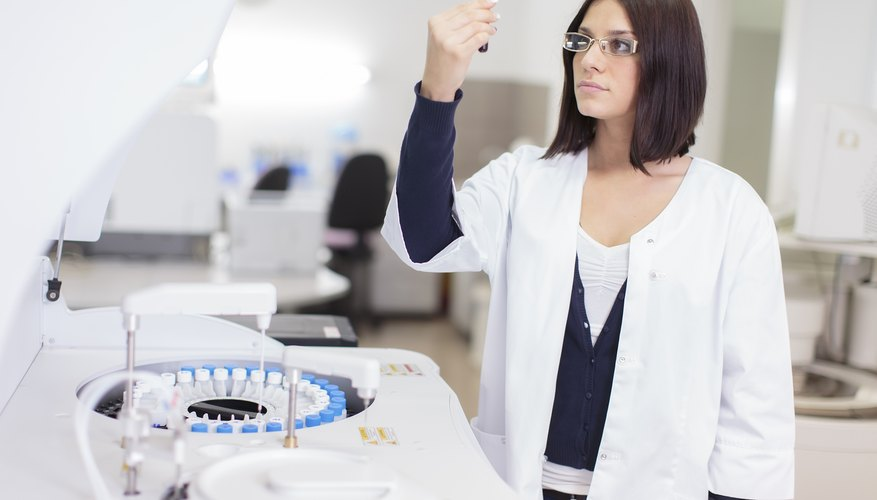 A lab technician is analyzing a blood sample.