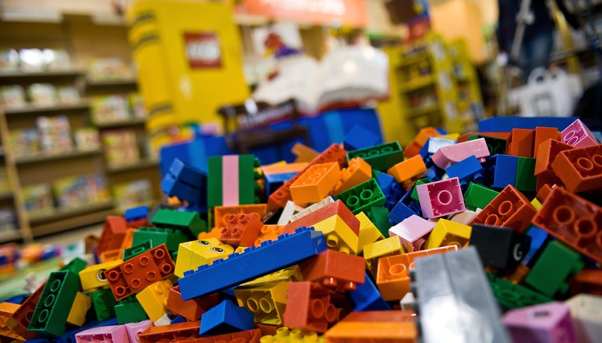 LEGO blocks on store floor