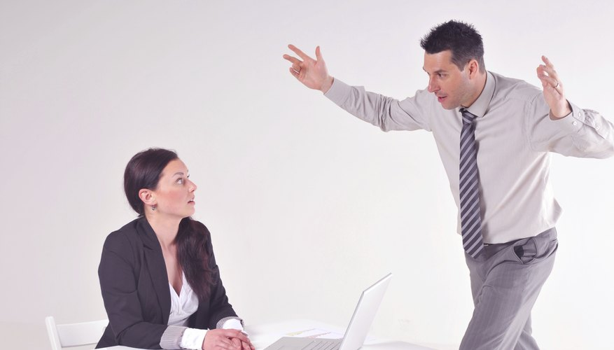 Manager angry at his secretary