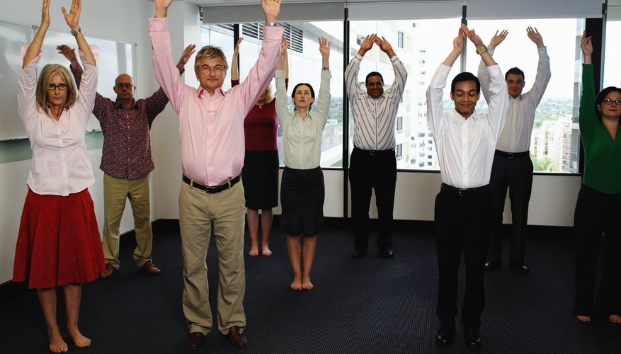 Many companies use team building training in the office.
