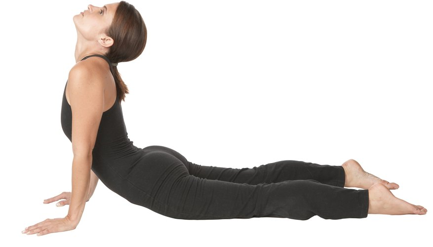 Press down through the legs and lift the torso.