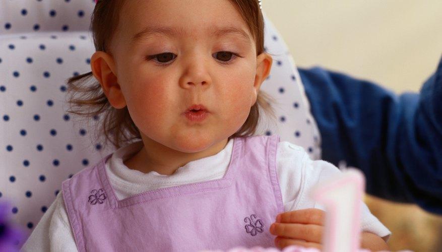 Baby girl at 1st Birthday
