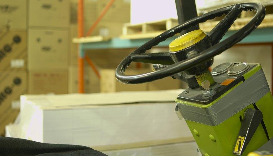 Forklift controls.