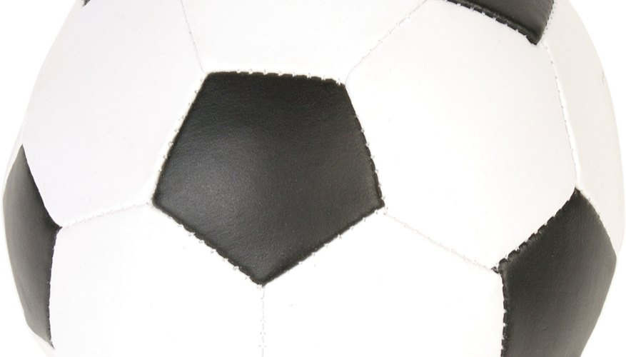 The black patches on a soccer ball are pentagonal in shape.