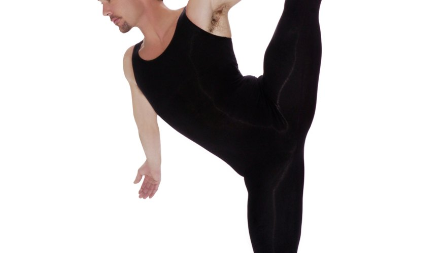 Male dancers cross-train to improve flexibility and strength.