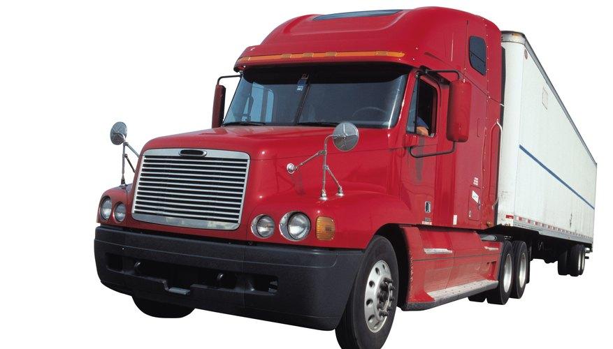Semi truck with trailer