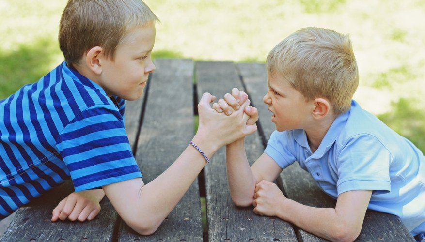 Sensory interactions with touch such as wrestling can be difficult for autistic children.