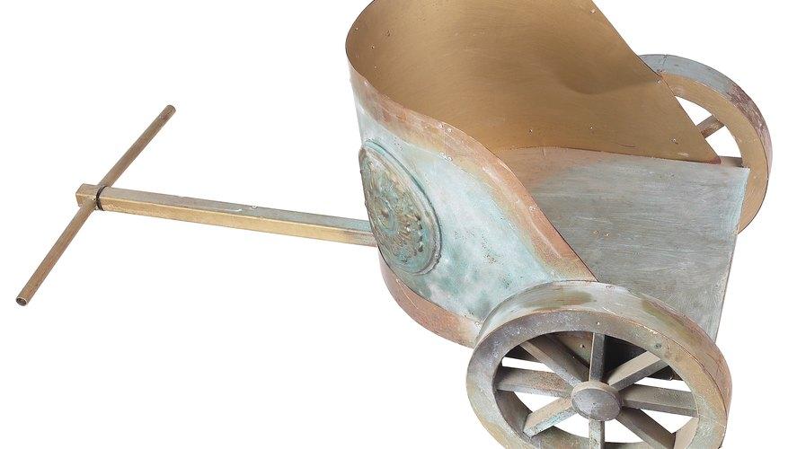 Convierte un cartón de leche en un carro romano de juguete.