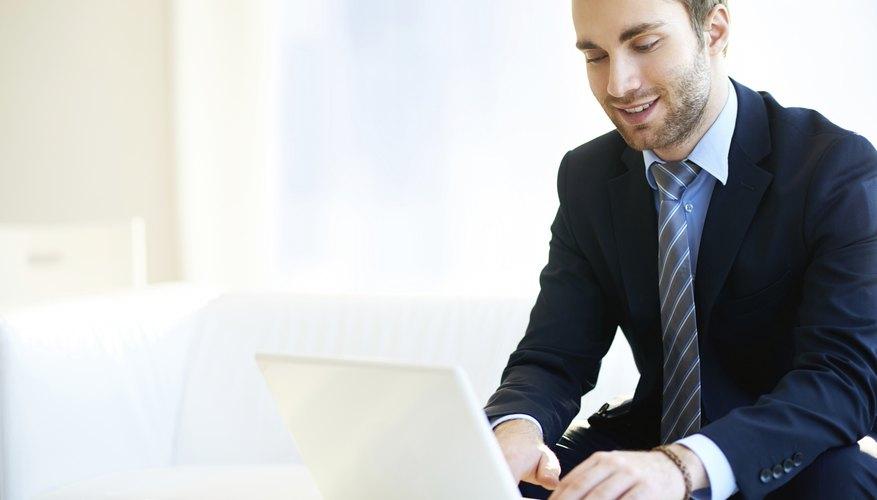 Man running online business
