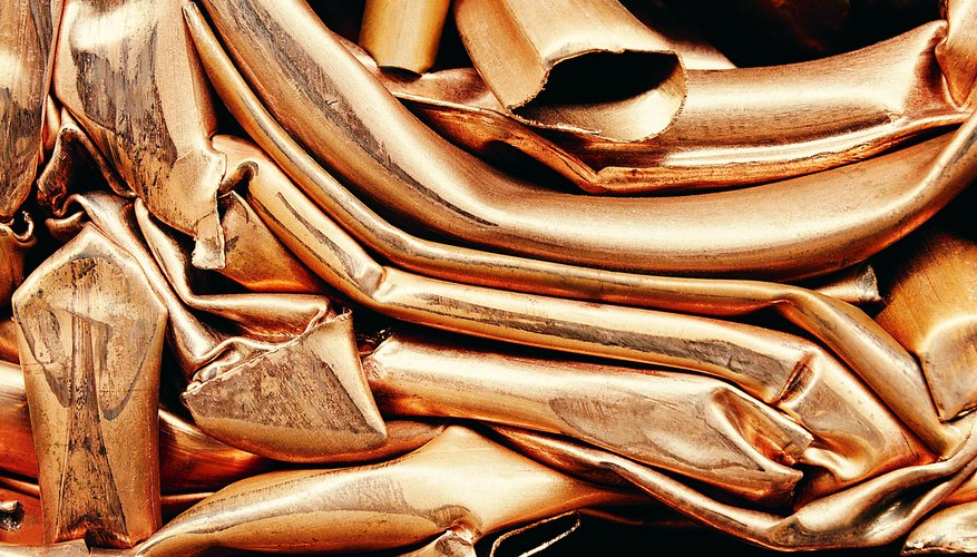 The copper in pipes and wiring can be melted and sold.