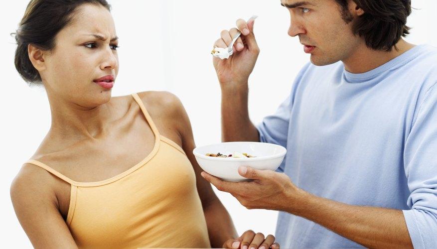 Woman denying food