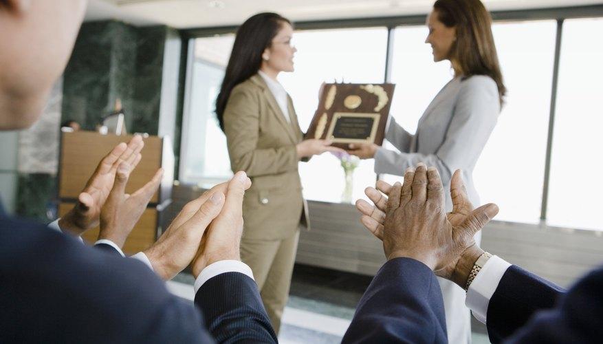 types of employee awards bizfluent