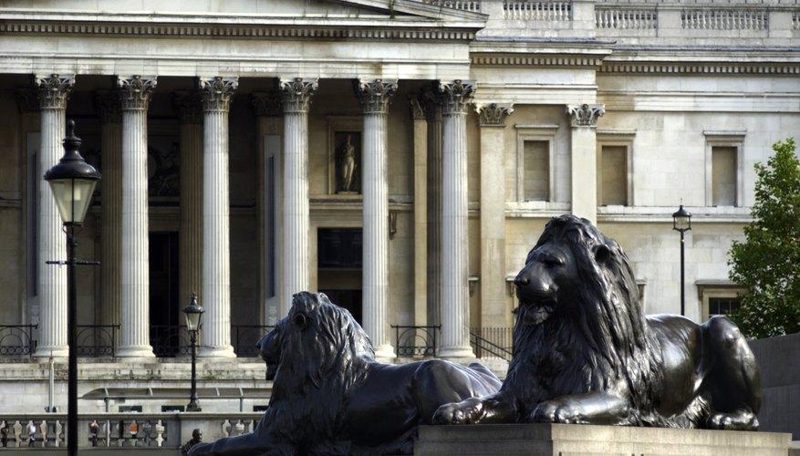 Los populares leones de Trafalgar Square