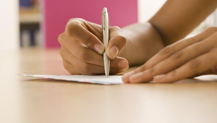 Woman writing down ideas