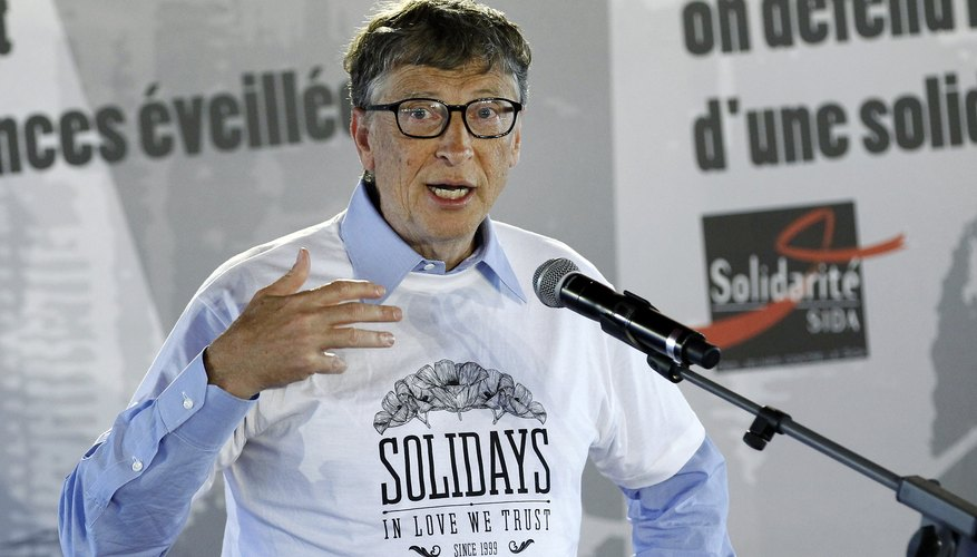 Bill Gates Opens The Annual Paris Solidays Festival,  3-day Music Festival To fight AIDS
