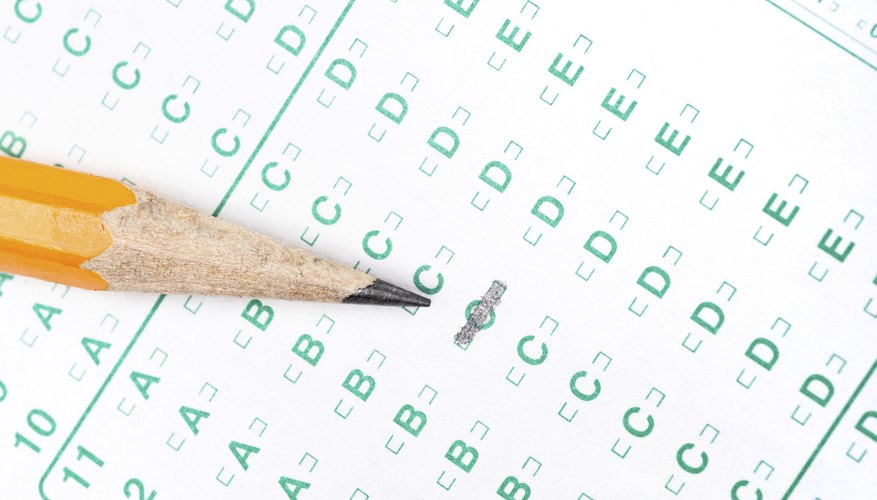 Pencil on test form