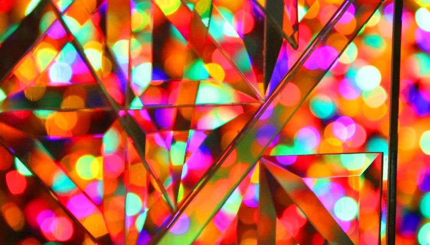 Colorful prism crystals display