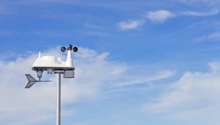 A cup anemometer is a simple device.