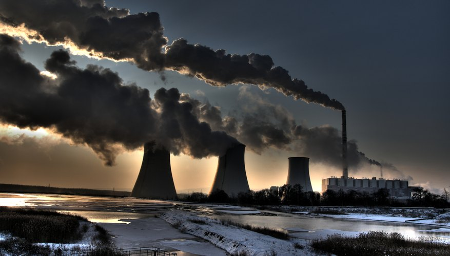 A science project can discuss the type of pollution caused by coal-burning factories.
