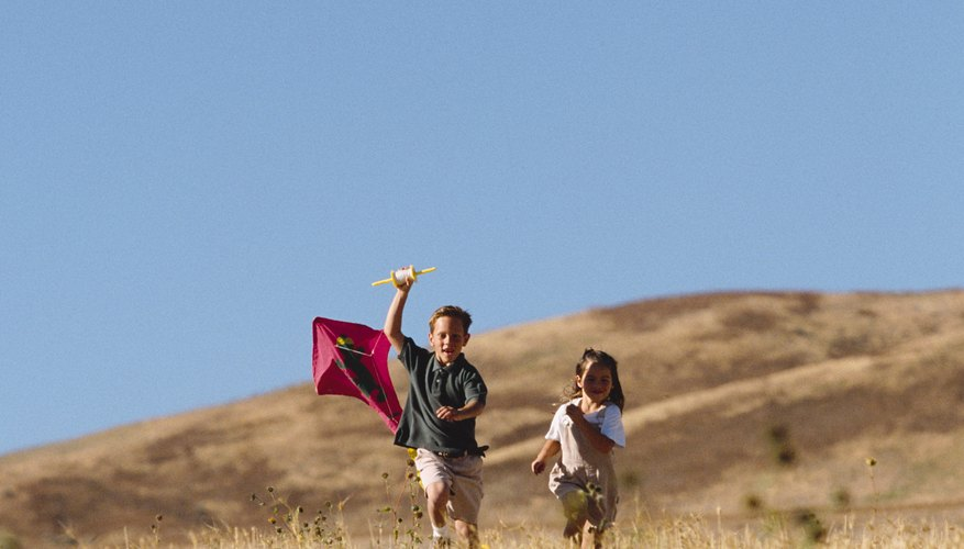 The casual kite flyer can estimate wind speed using a ribbon attached to a stick.