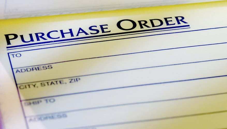 Close-up of a purchase order