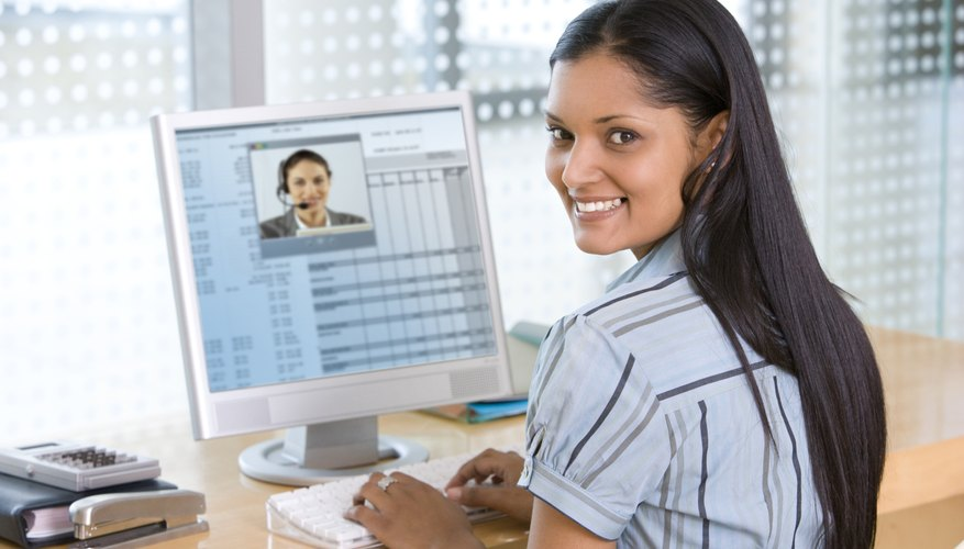 Video calling from a computer provides the face-to-face contact that's important in business.