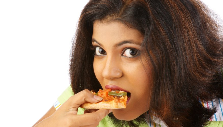 Teens who overeat regularly are at risk for obesity.