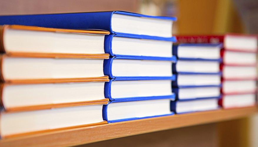Assortment of new books on shelves
