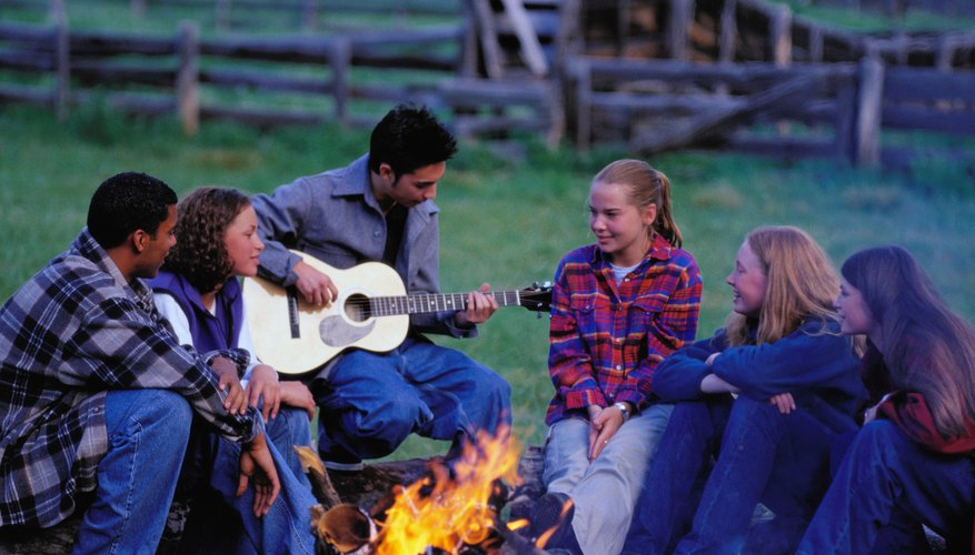Enliven a harvest party for teens by hosting it after nightfall.