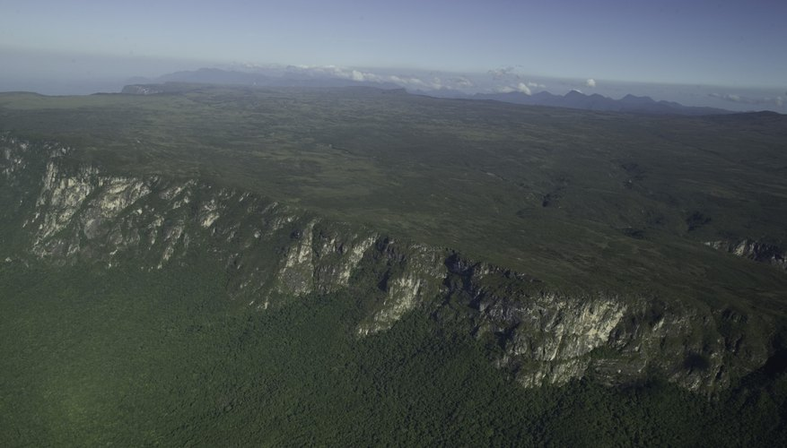 aerial view of a plateau