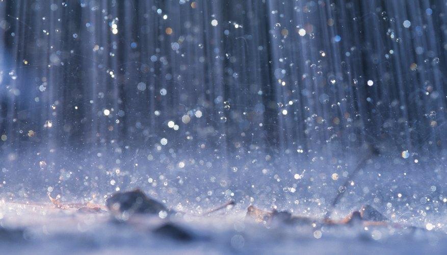 Acidic rain makes things less alkaline.