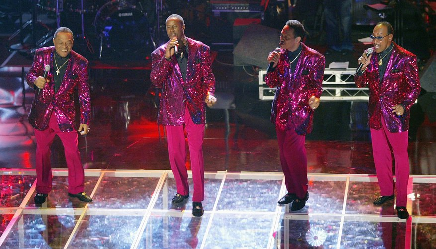 Motown band, The Four Tops, performing at an event.