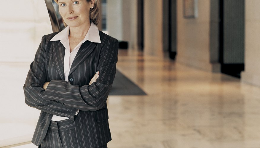 Portrait of a Mature Businesswoman Standing in a Building Lobby