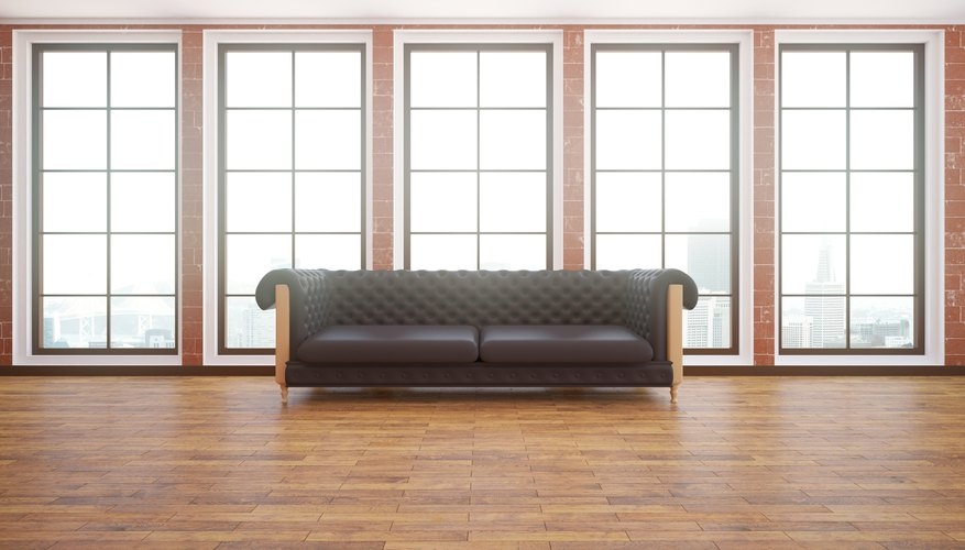 Couch on a hardwood floor