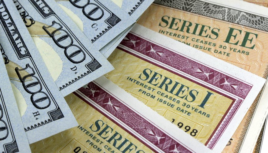 American money and savings bonds.