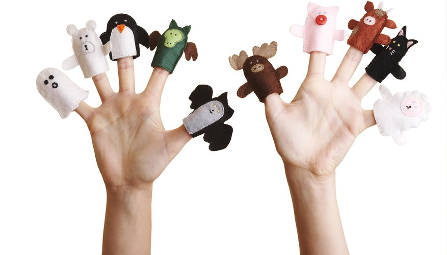 Finger puppets can be as simple or as ornate as you make them.