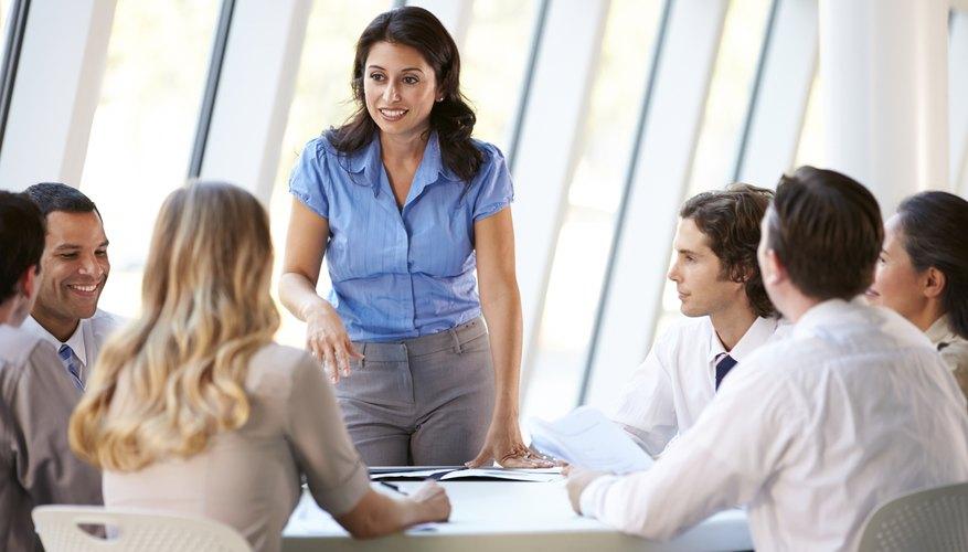 Woman leading marketing team