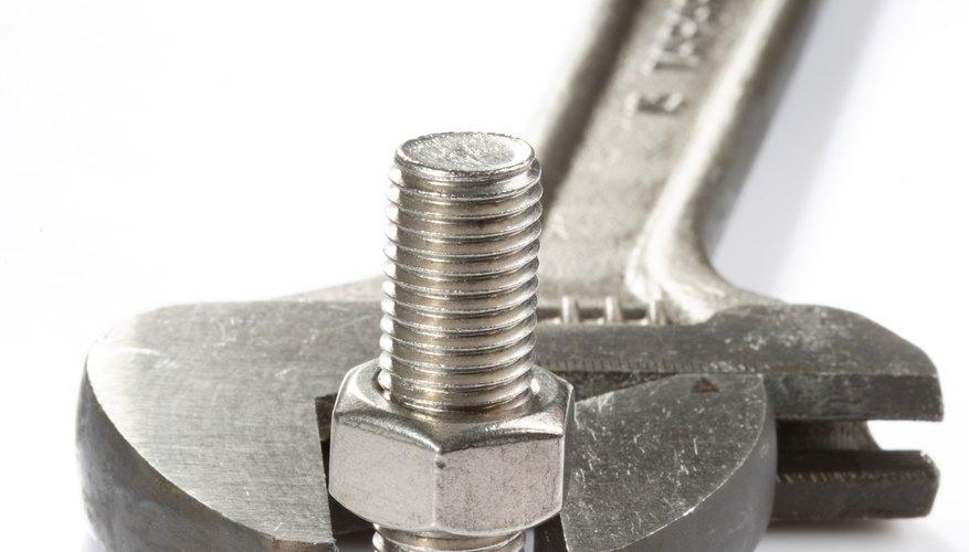 Nut, bolt and adjustable spanner
