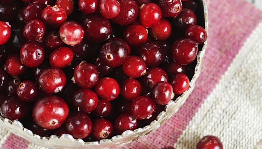 Bucket of cranberries