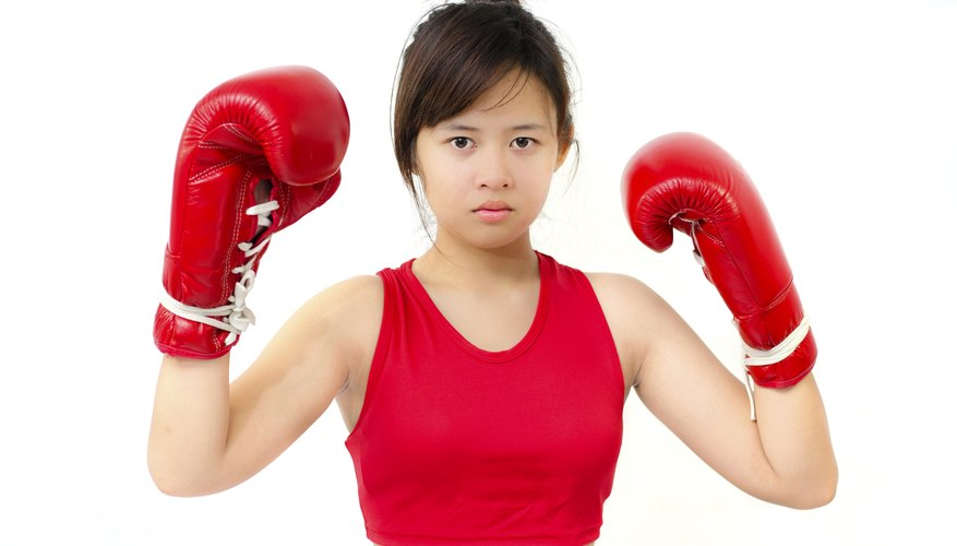 Create a girls' boxing costume.