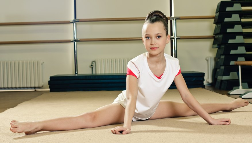 Young teen girl gymnastics are not