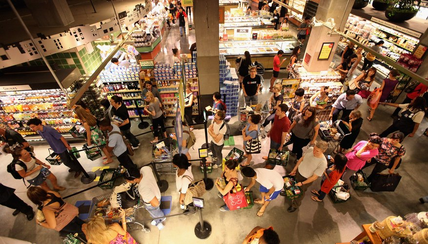A high-angle view of a natural foods store.