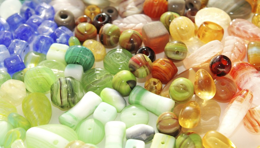 Variety of colorful beads