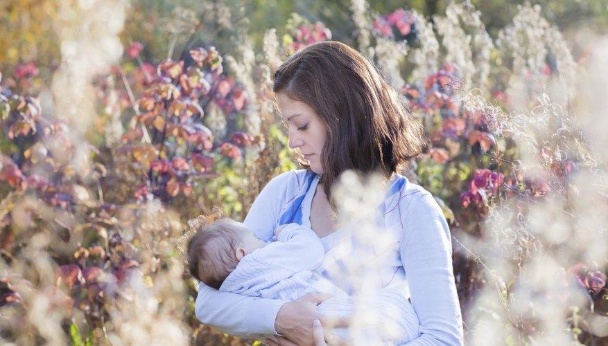 Woman breastfeeding her child.